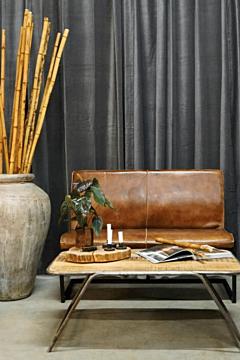 Lounge sofa, Natur, Læder & Jern,  Trademark Living