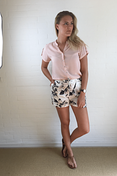 Shorts, Blomst, b.young