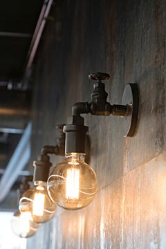Væglampe, Vandrør, Jern, Trademark Living