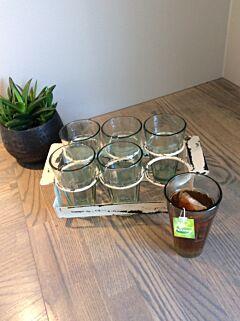 Glasholder m. 6 stk. Glas, Trademark Living